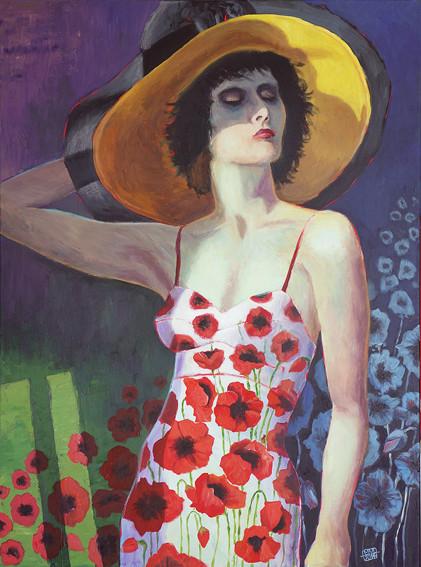 """""""Die Blumenfrau"""" 60 x 80 cm"""
