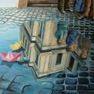 """""""Im Spiegel des Wassers"""" 80 x 60 cm"""