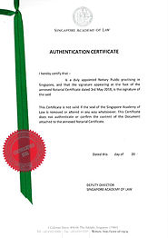Authentication Certificate Singapore Academy Law SAL