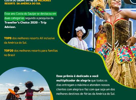 Prêmio Traveller's Choice 2020 - Da Bahia para América Latina 🏆