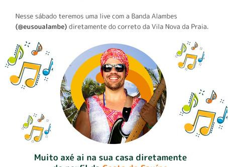 Live da Banda Alambes no instagram @costadosauipe! 👳♂🎶🎵▶