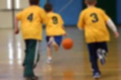physical education (P.E.) teaching basketball lessons