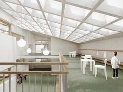 Fotomontaggio corte interna della scuola