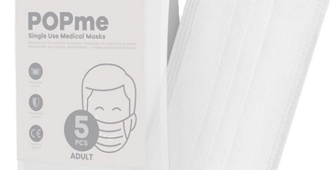 Disposable Face Mask – White ☁️ 5-Pack