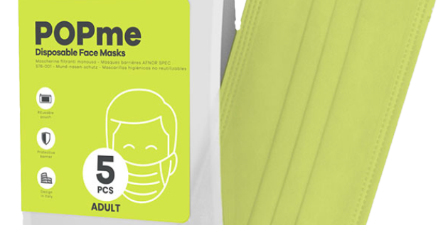 Disposable Face Mask – Lime 🍋 5-Pack