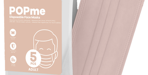 Disposable Face Mask – Face Powder 🌸 5-Pack