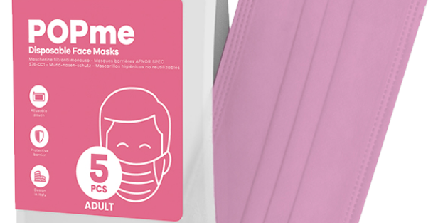 Disposable Face Mask – Bubblegum Pink 🍬 5-Pack