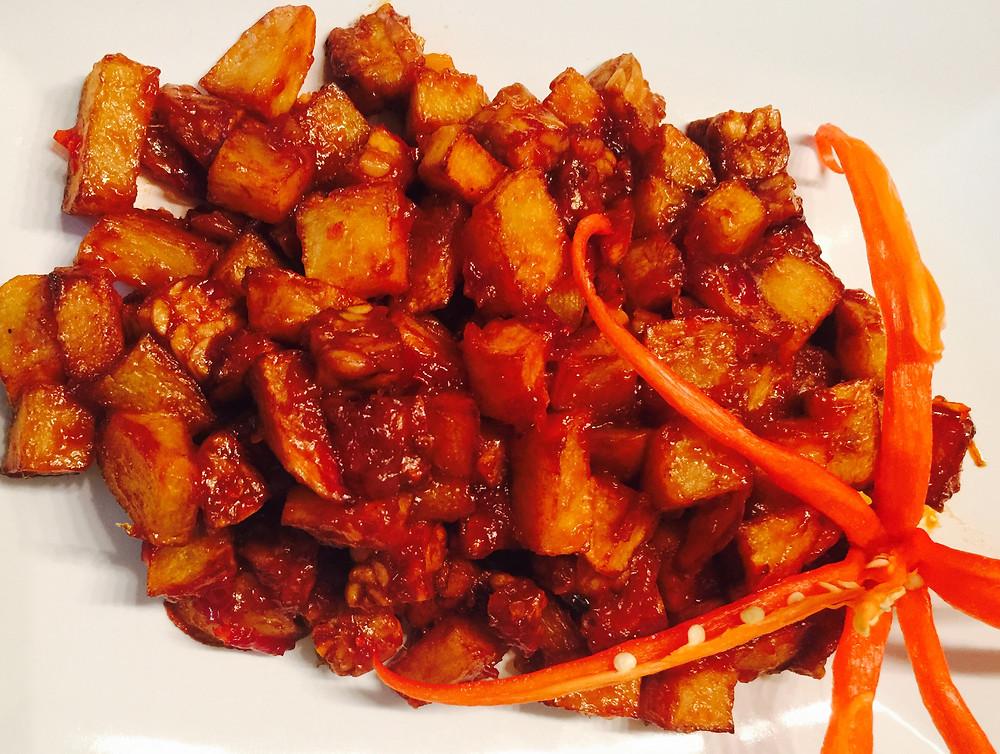 Sambal Goreng Kentang Tempe Fried Potatoes And Tempeh In Sambal