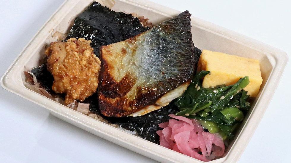 日本の海苔弁(鯖)
