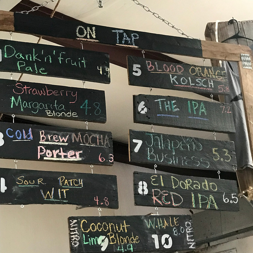 Dirtbag Ale's Beer Selection