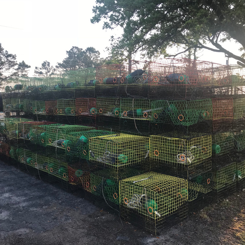 Crab cages for the Albemarle Sound