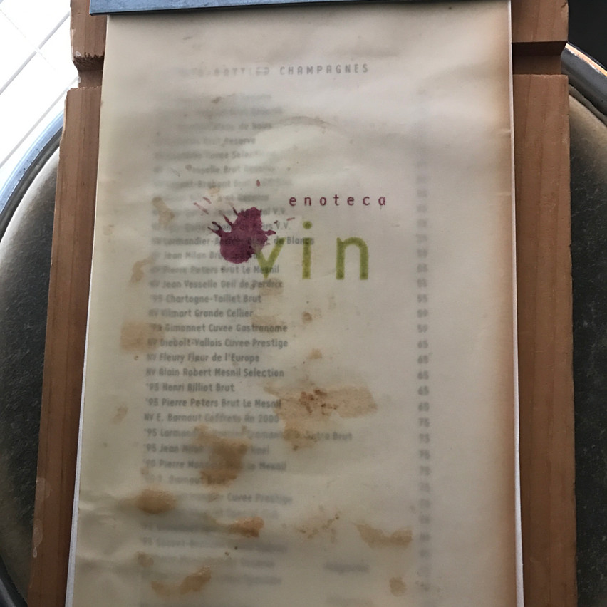The Wine List @ Enoteca Vin