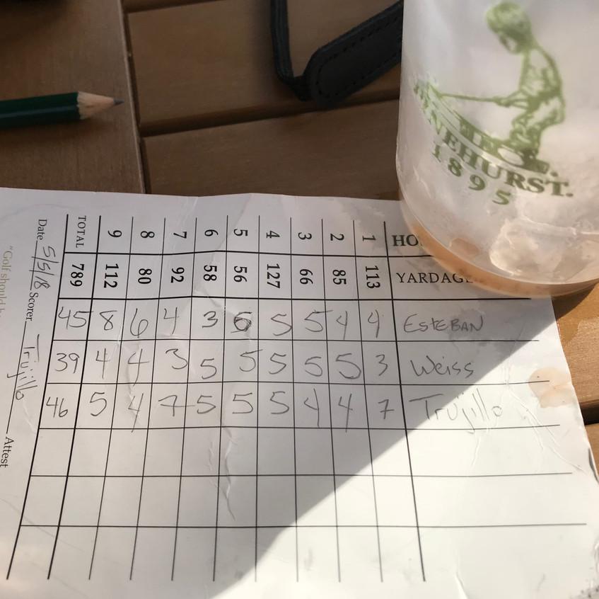 Empty Bloody & Golf Scores