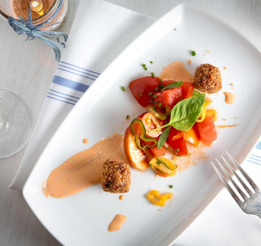 Chef Krenz' Tomato, Peach and Watermelon Salad