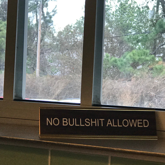 No Bullshit Allowed
