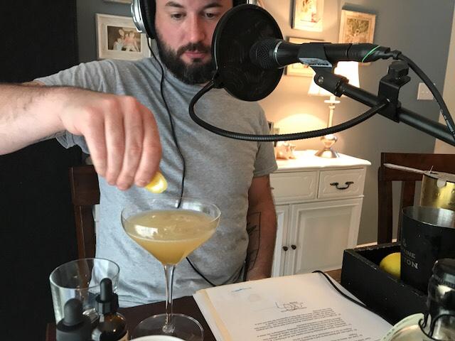 Young Flanagan making cocktails