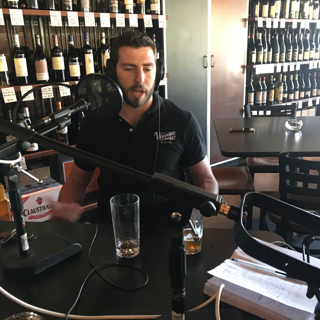 Dan Wade among wine