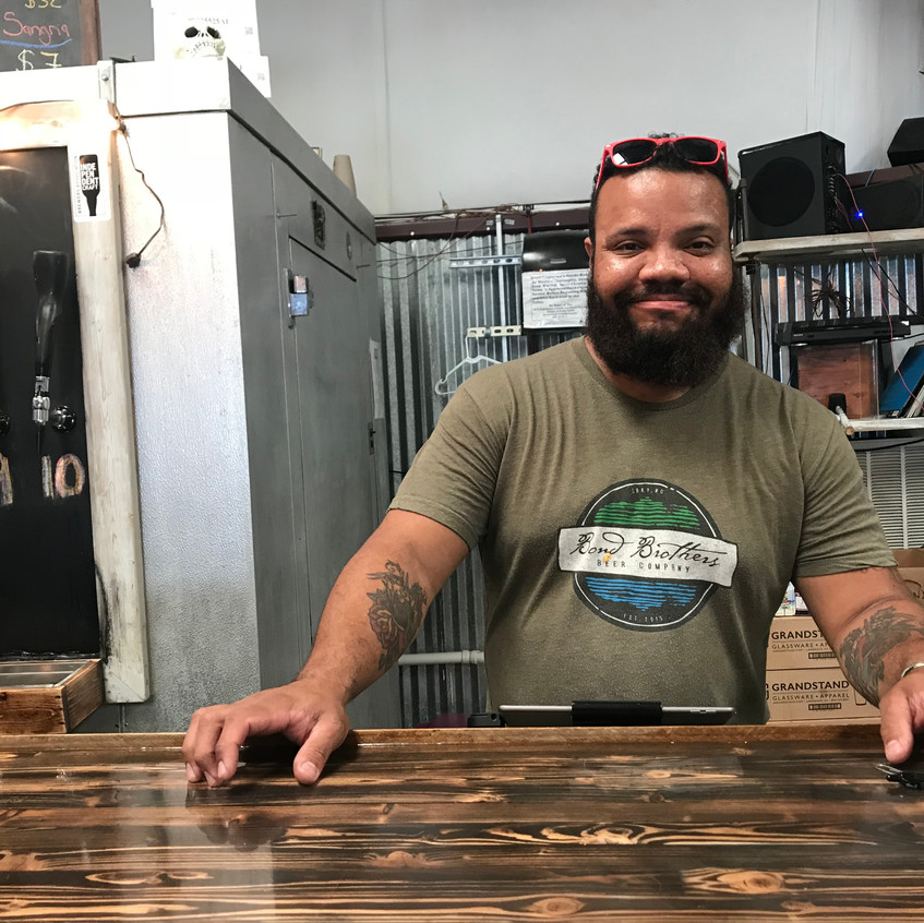 Owner Tito Simmons-Valenzuela of Dirtbag Ales