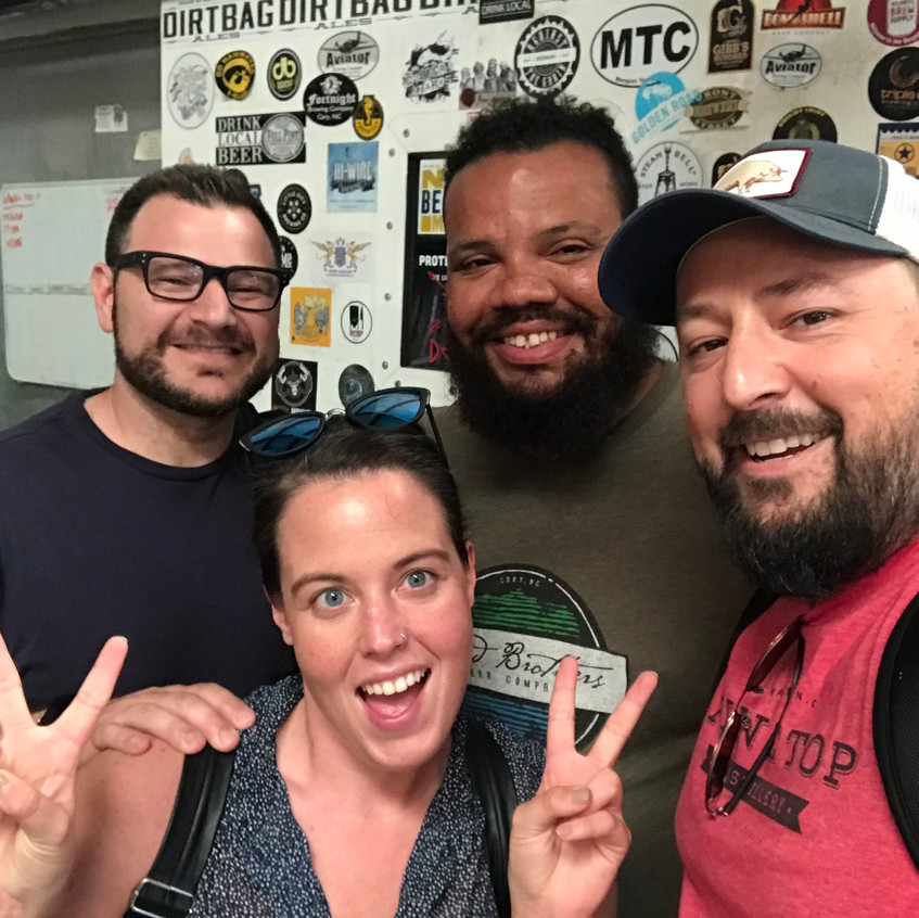 At Dirtbag Ales with Tito and our Fayetteville affiliate Melinda Jackson