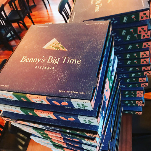 Bennys Big Time Pizza Boxes