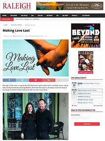 Raleigh Magazine Felicia and Max Trujillo