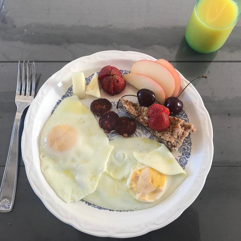 Dad made breakfast