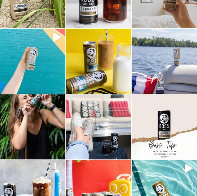 Boss Coffee Instagram Feed