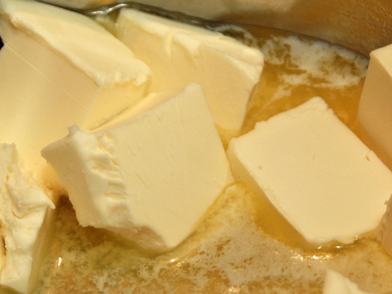 Chunks of creamy yellow butter