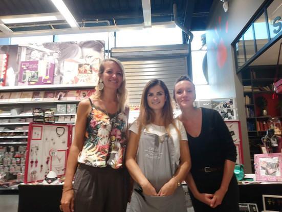 3 créatrices en expo : Rosantic, Mon Petit Baz'Art A Moi, et la Savonnerie Tourangelle