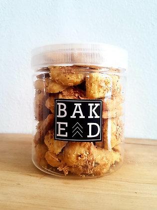 Garlic Cheese Cookies in a Jar