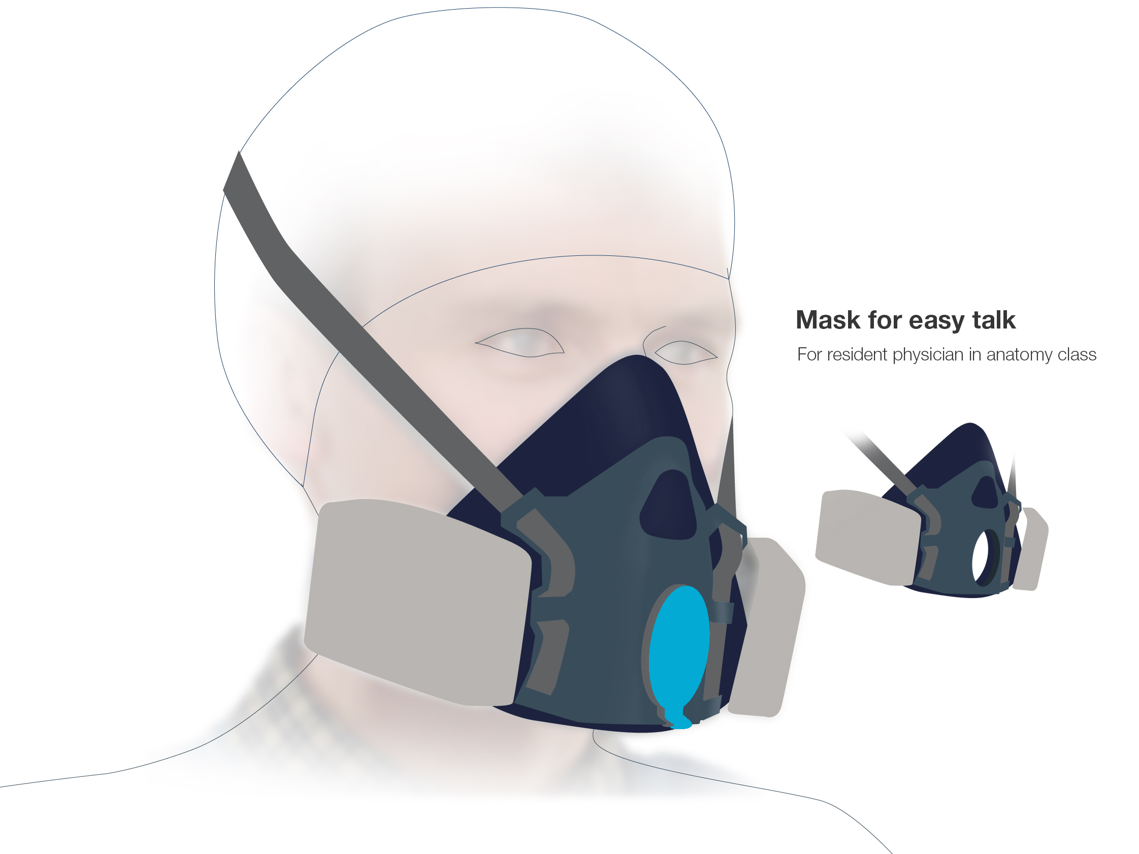 Mask for easy talk