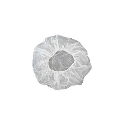 Bonete medicale, alb-transparent, 100 bucati