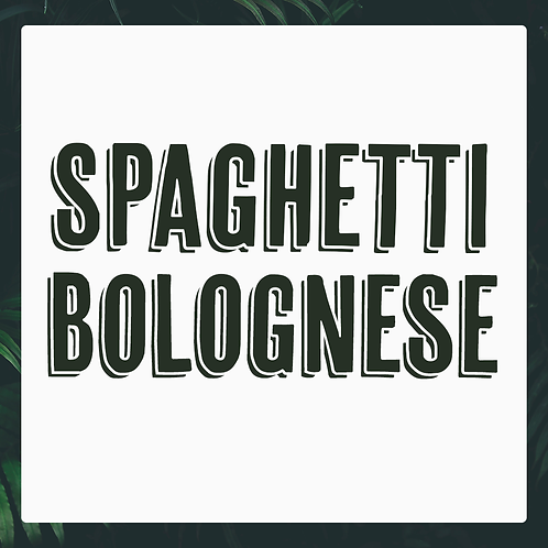 5 x Spaghetti Bolognese Meal Pack
