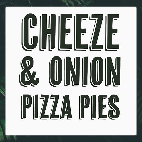 4 Frozen Vegan Cheeze & Onion Pizza Pies