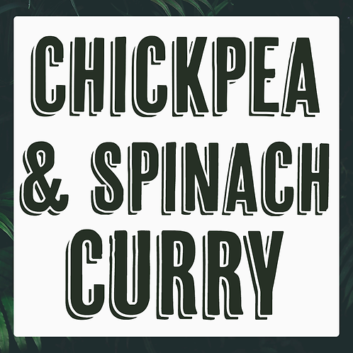 Single Chickpea & Spinach Curry Meal