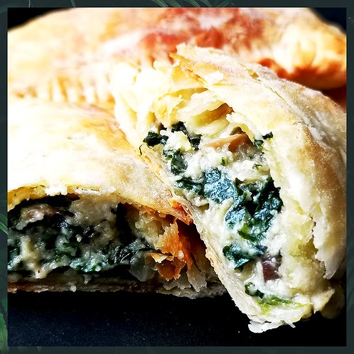 6 Vegan Feta, Spinach & Mushroom Hand Pies