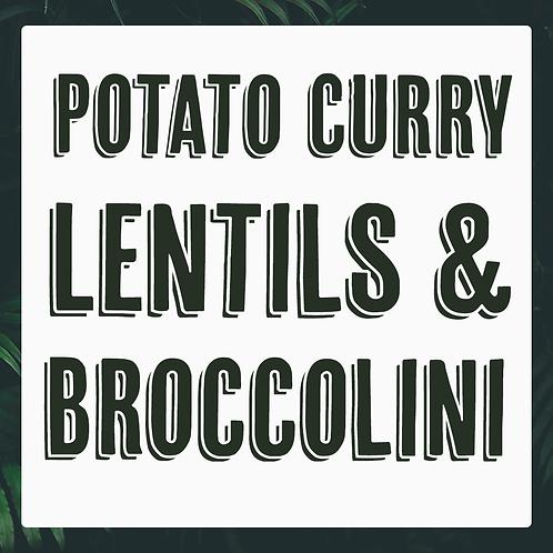 Single Potato Curry, Lentils & Broccolini Meal