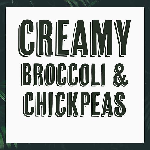 5 x Creamy Broccoli & Chickpeas Meal Prep