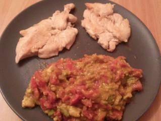 Guacamole e petti di pollo bio