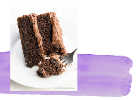 Vegan Chocolate Cake by Namely Marly!