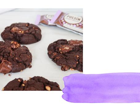 Vegan Chocolate Cookies with Pulsin Brownie Bites