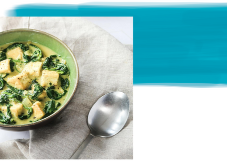 "Vegan Saag ""Paneer"" with Tofu"