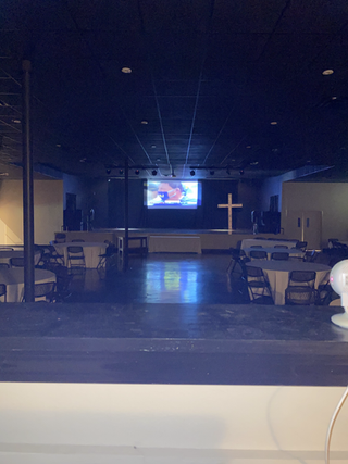 Large Screen and Projector