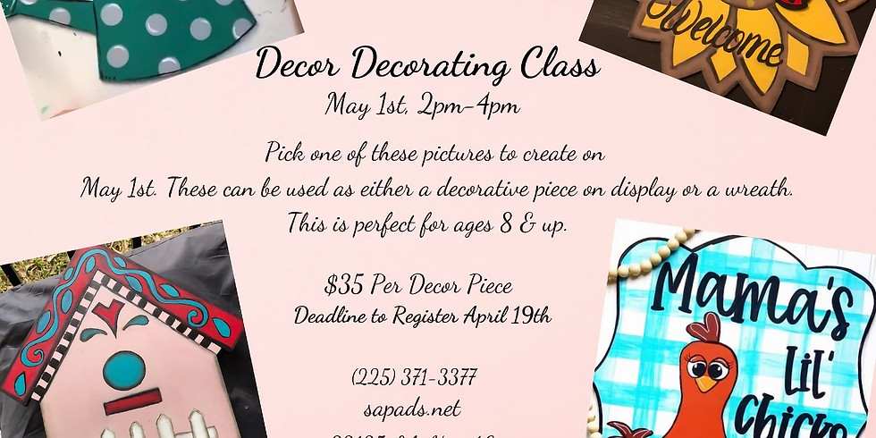 Decor Decorating Class