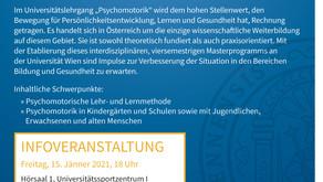 Infoveranstaltung Universitätslehrgang Psychomotorik