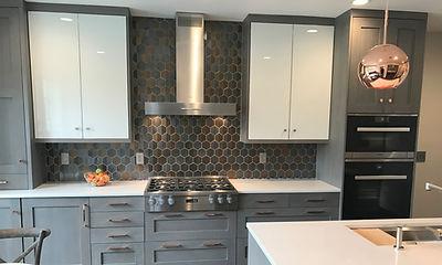 gray and copper kitchen remodel Jim Dove