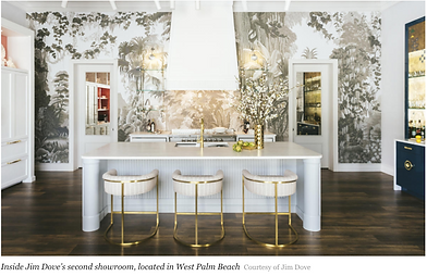 Business of Home article Jim Dove Kitchen Showroom Palm Beach
