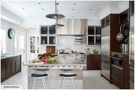 Modern Walnut Kitchen Design Palm Beach.