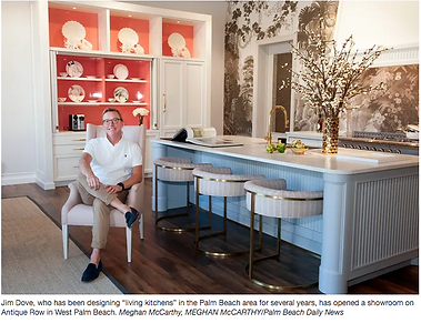 Palm Beach Daily News article Jim Dove Kitchen Showroom