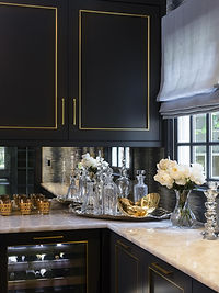 Black and Gold Bar in Mendham NJ